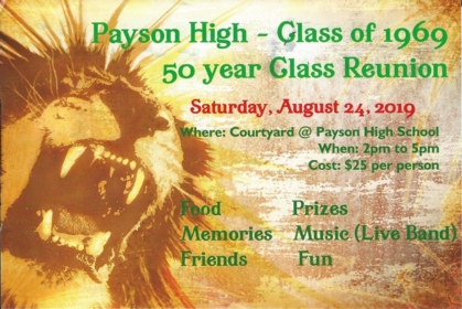 Payson High School Class Of 1969, Payson, UT